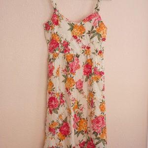 Floral Cynthia Rowley Linen Midi Dress